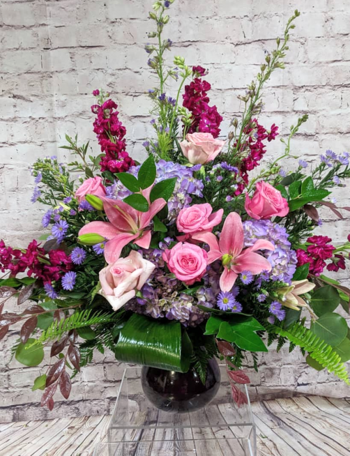 sympathy arrangement heath f smith flowers and foliage